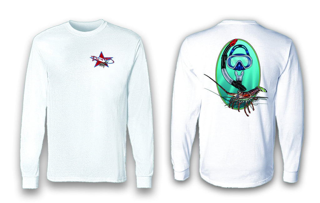 Spiny Lobster - Long Sleeve Polyester Fishing Shirt