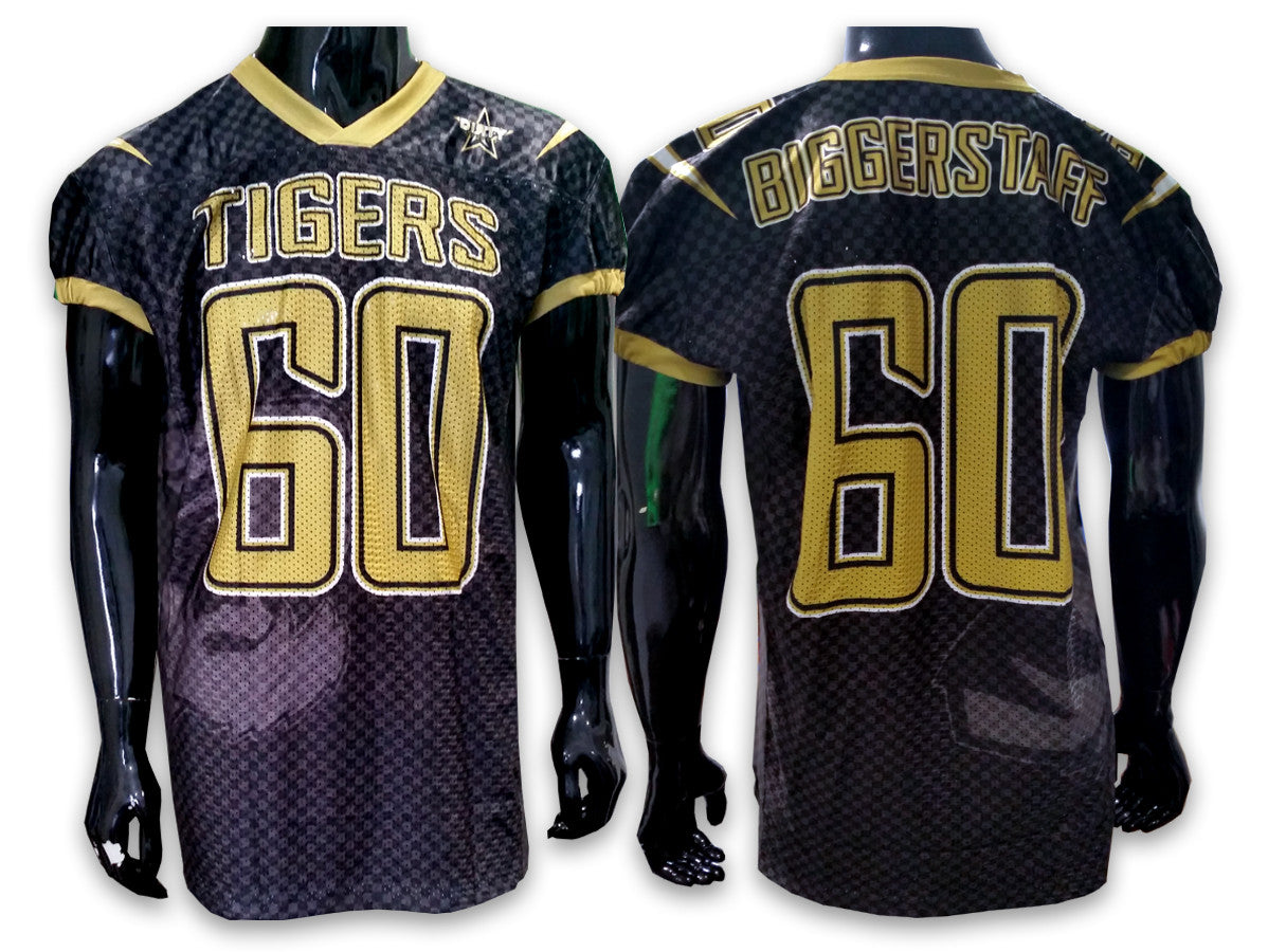 72eeb5455 TIGERS Football - Custom Full-Dye Jersey - Dirty Sports Wear