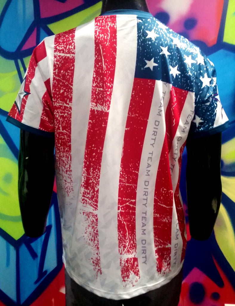 Team Dirty, Stars & Stripes - Custom Full-Dye Jersey