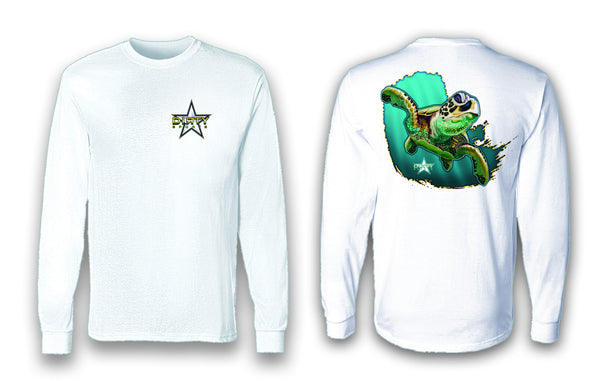 Sea Turtle - Long Sleeve Polyester Fishing Shirt