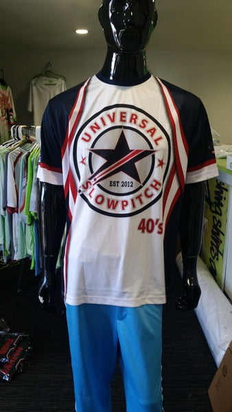 Universal Slowpitch, 40s, Patriotic - Custom Full-Dye Jersey
