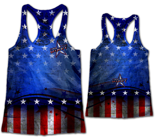 Dirty Sports Razor Tank w/ STARS and STRIPES Theme
