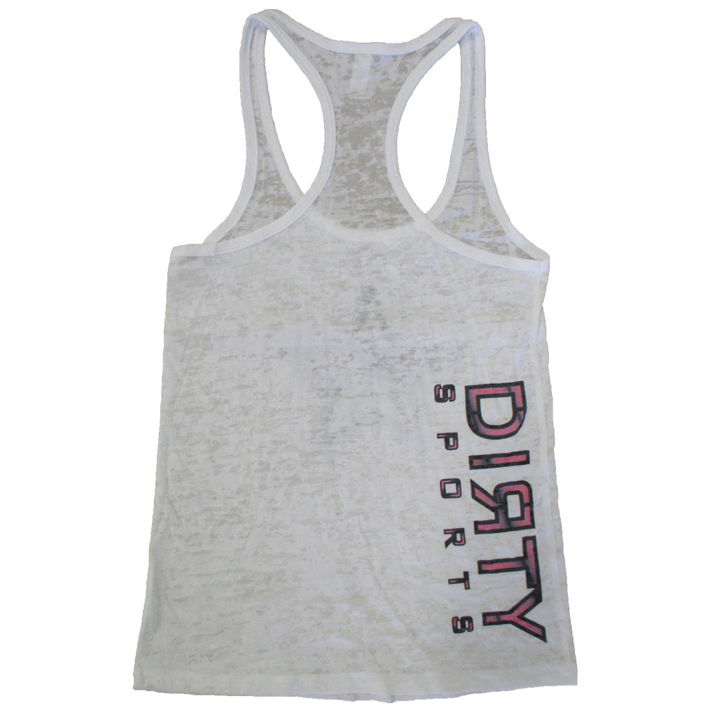 White Razor Tank with Dirty Sports Star