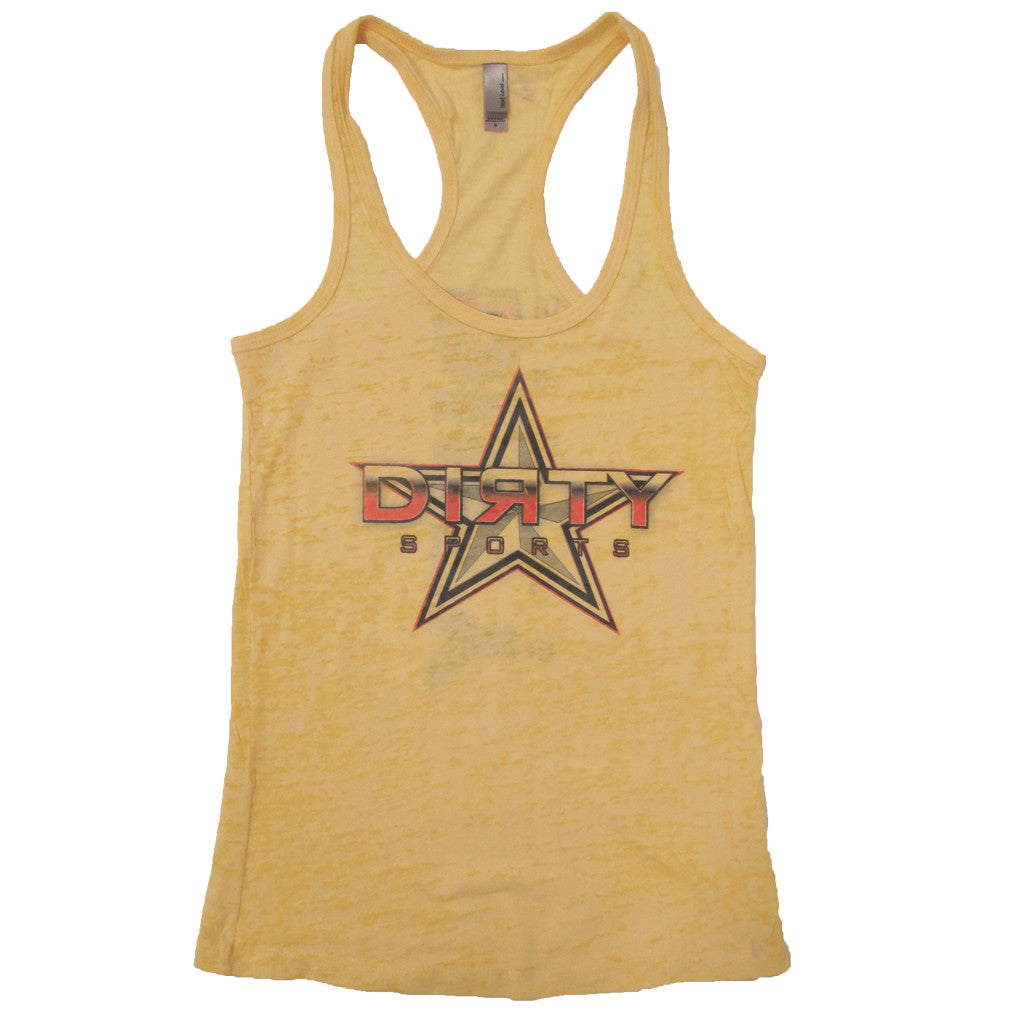 Yellow Razor Tank with Dirty Sports Star