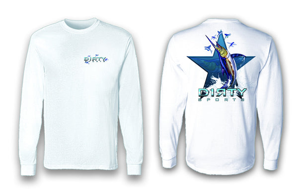 ZOMBIE SAILFISH - Long Sleeve Polyester Fishing Shirt