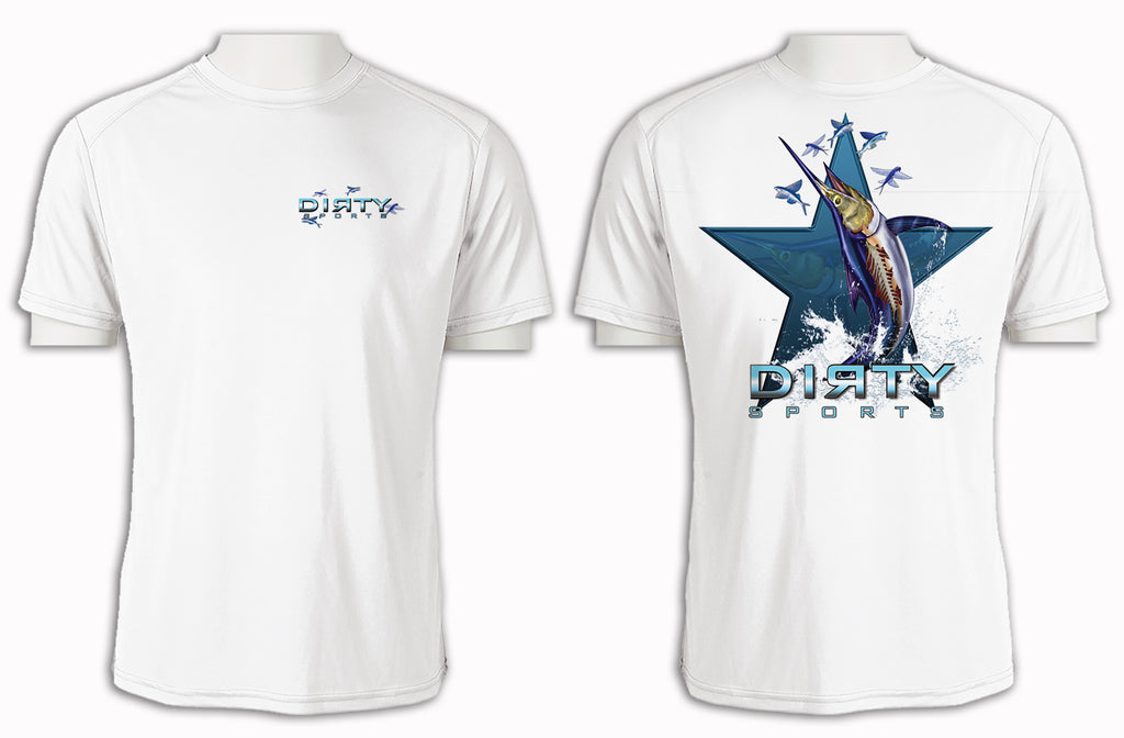 ZOMBIE SAILFISH - Short Sleeve Polyester Shirt