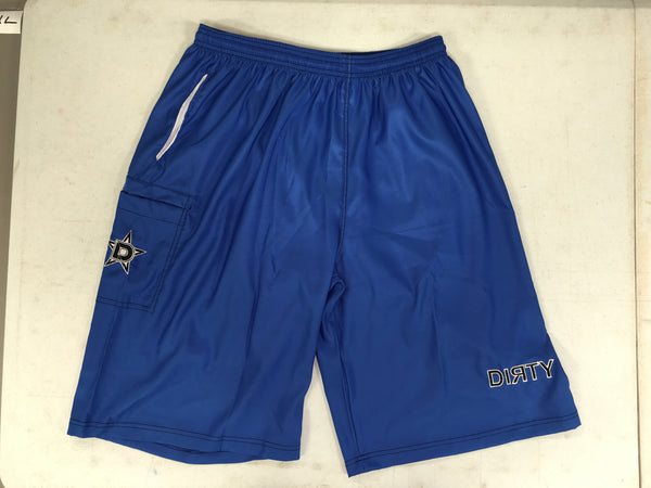 Dirty Sports, Micro Fiber Shorts - Royal Blue, Black logo