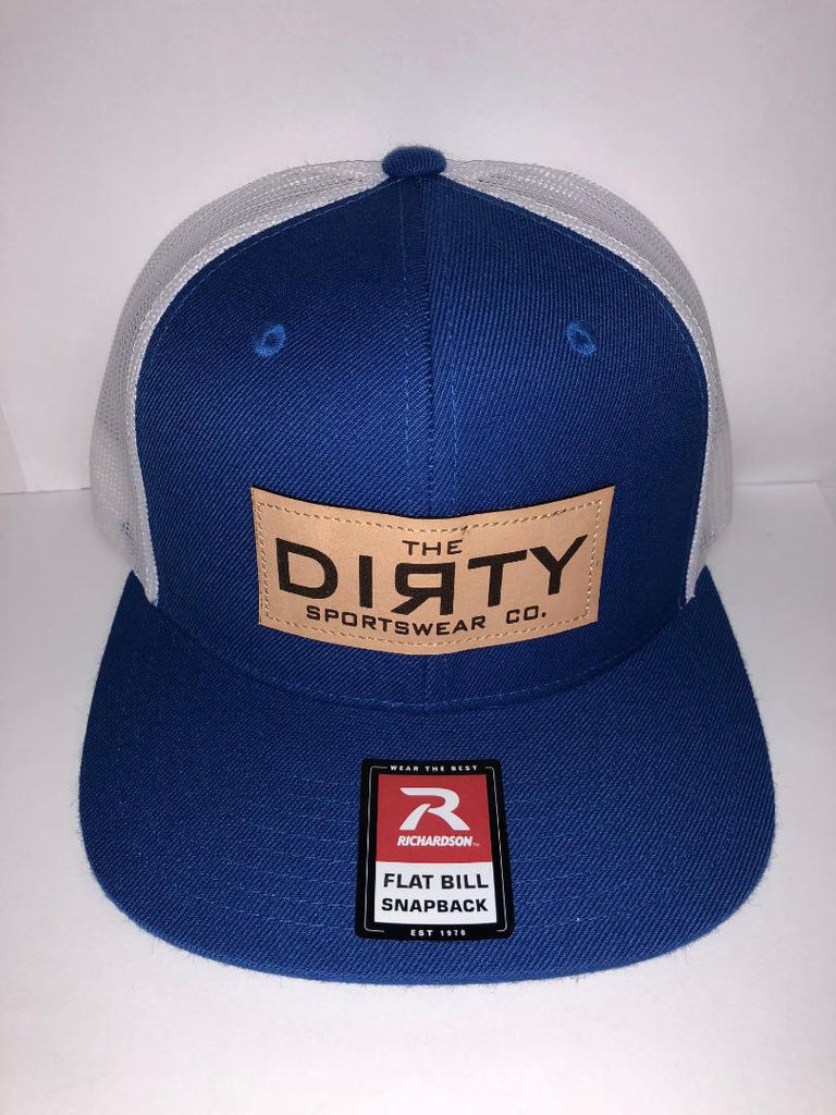 #242 Royal Blue & White - Dirty Patch