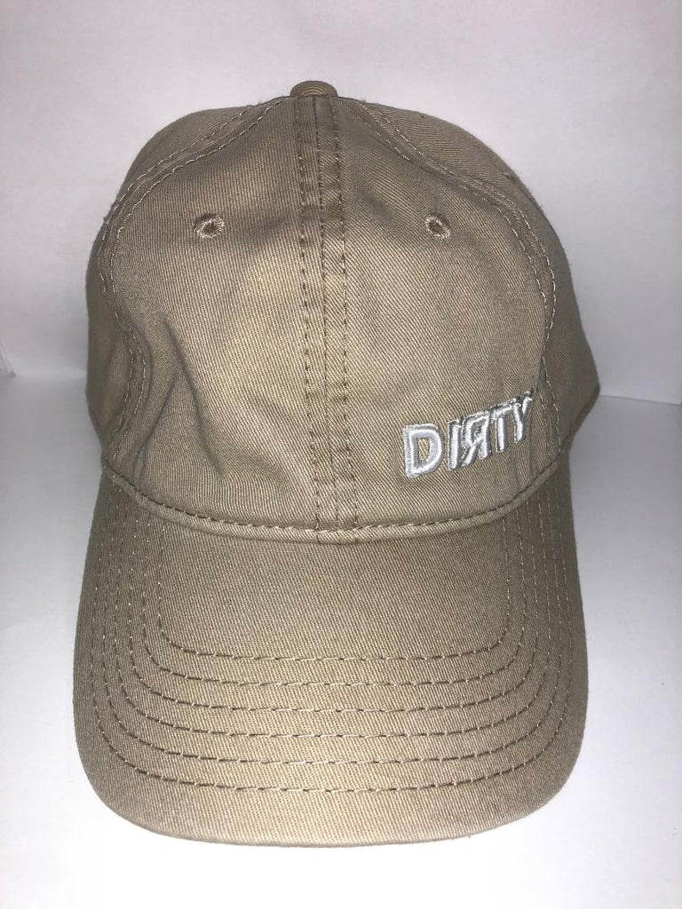 #249 Snap Back -Tan , Small White Dirty Logo