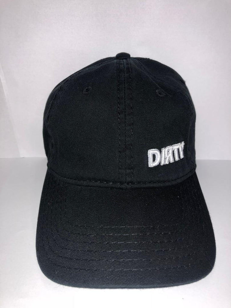 #250 Snap Back -Black , Small White Dirty Logo