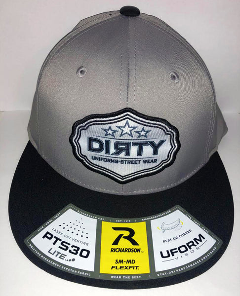 #253 Gray & Black Hat - Dirty Sports Patch