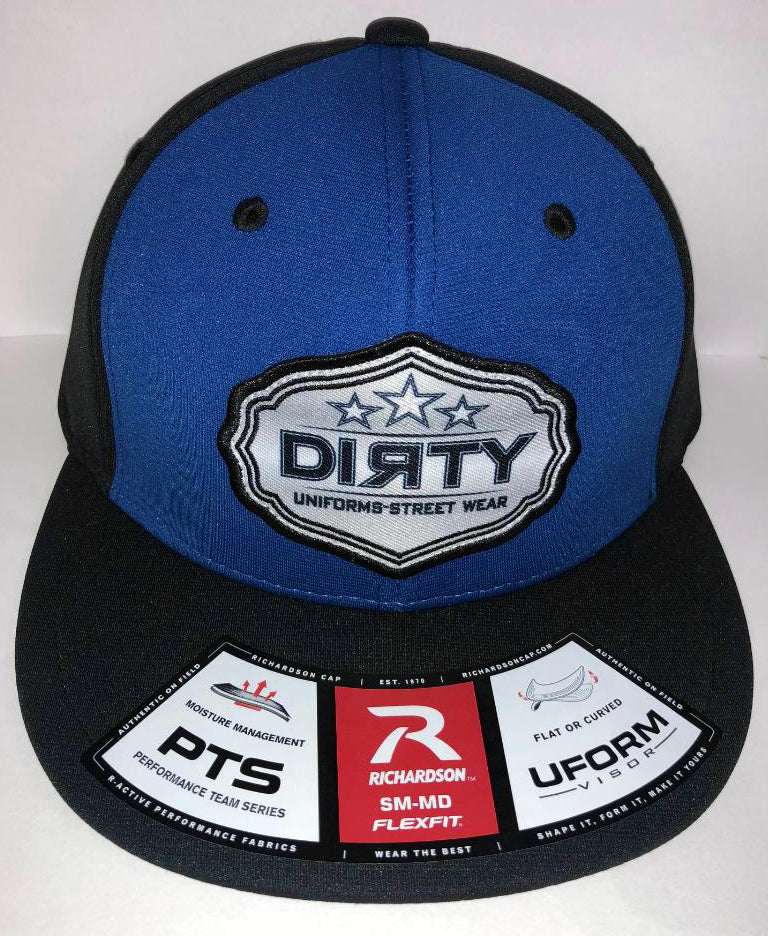 #254 Royal Blue & Black Hat - Dirty Sports Patch