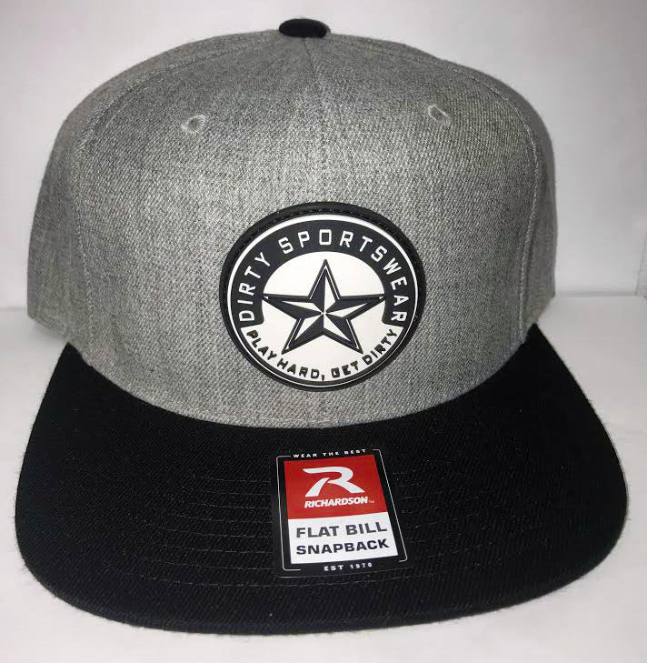 #277 Heather and Black Hat - Dirty Sports Star Rubber Patch