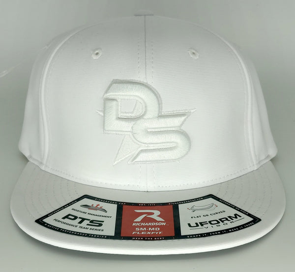 #361 White Hat - 3D DS Embroidered Logo