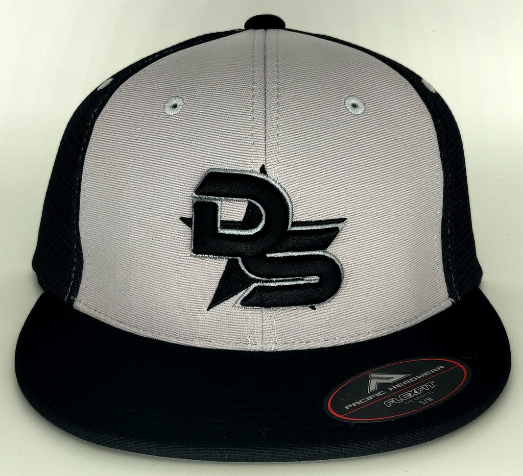#362 Gray & Black Hat - 3D DS Embroidered Logo