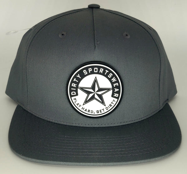 #366 Graphite Gray Hat - Dirty Sports Logo Rubber Patch