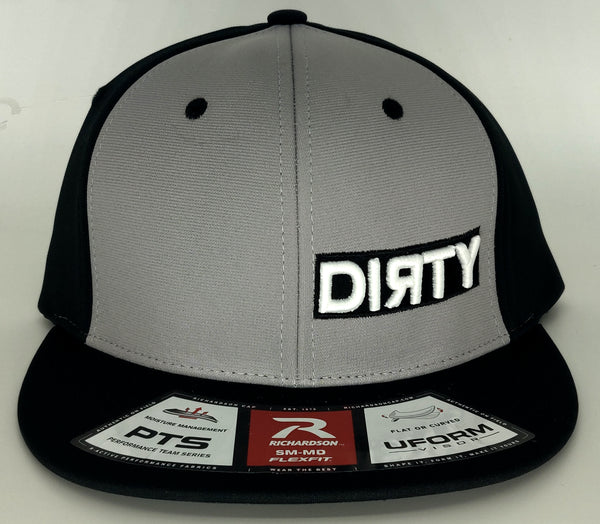 #370 Gray & Black - 3D Dirty Embroidered Logo