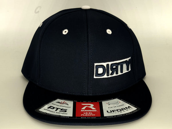 #373 Dark Navy Hat - Dirty Logo