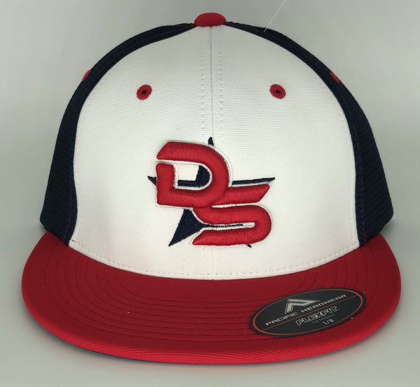 #374 Red, White & Blue Hat - 3D DS Embroidered Logo