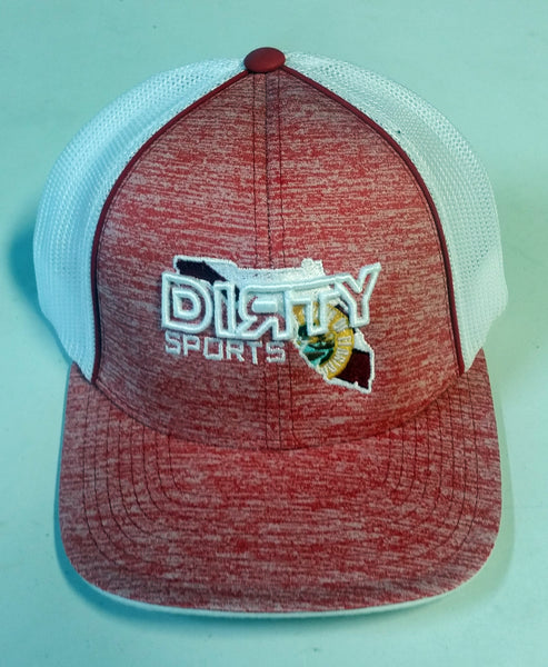 #204 Heather Red and White Hat - Dirty Florida