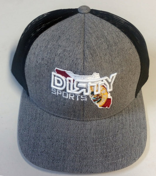 #206 Gray & White Snap-Back Hat - Dirty Florida