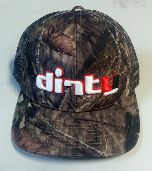 #229 Mossy Oak Camo Snap-Back Hat - Dirty 'Canes font