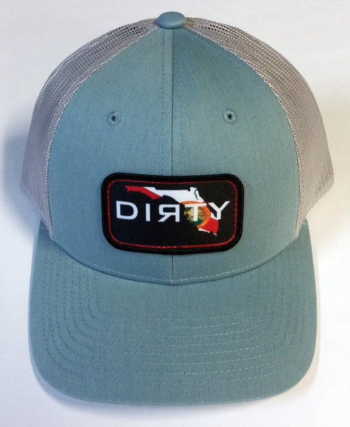 #233 Cool Blue on Gray - Dirty Florida Patch