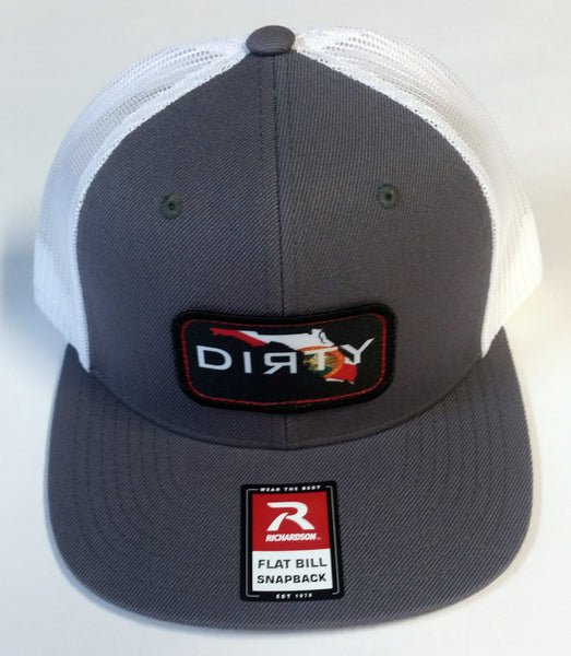 #234 Gray & White Hat - Dirty Florida Patch