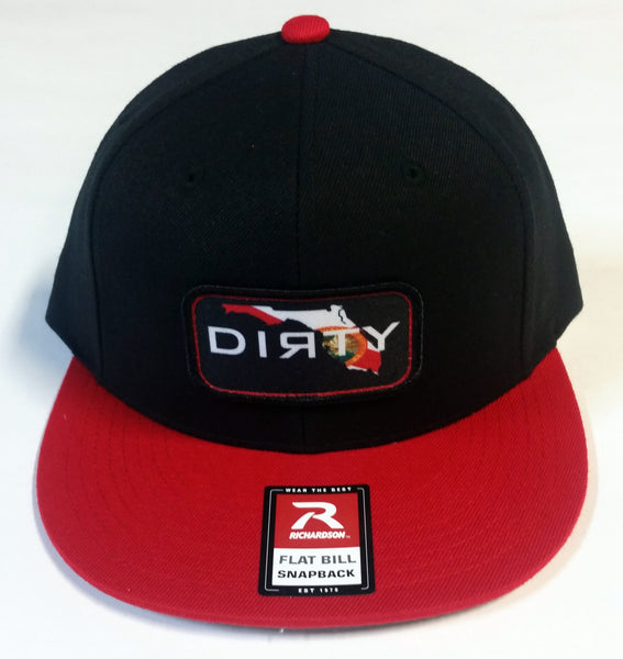#237 Black & Red Hat - Dirty Florida Patch