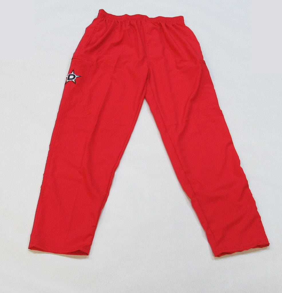 Lycra-Fiber Pants - Red with Black D Star logo