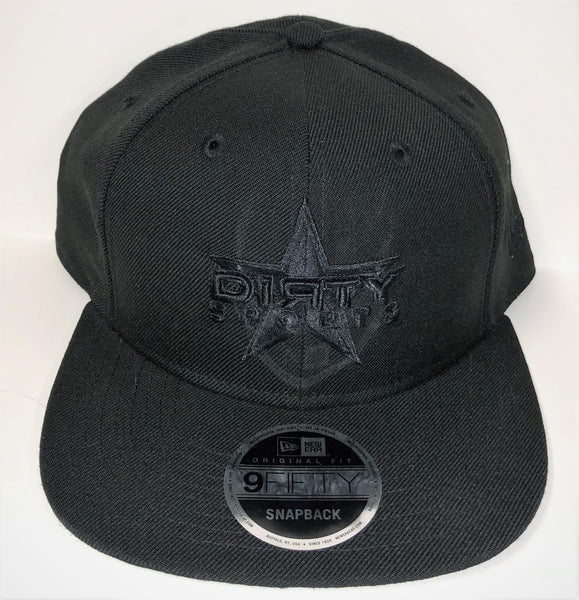 New Era 9FIFTY Snap-Back Hat - Black - BLACK DIЯTY Star Logo #288