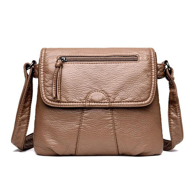 Cross-body Soft pu Leather Shoulder Bag