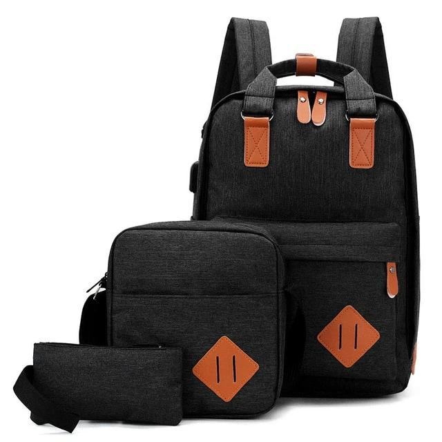 Men Laptop Backpack USB Charging