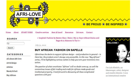 Afri-love Blog - Buy African: Fashion on Sapelle -  31 July, 2012