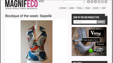 Magnifeco Ethical Blog - Boutique of the Week - Blog - 30 October, 2012