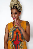 Sapelle Yellow African Dashiki Dress