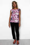 Sleeveless Pink African Print Top