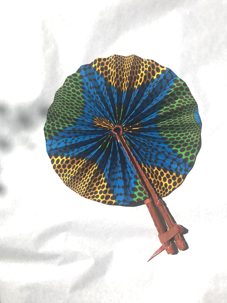African Wax Print Accordion Fan