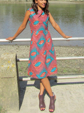 Sapelle Shop African Print Skater Dress