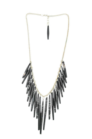 Recycled Paper Tassel Necklace