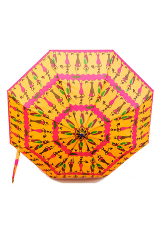 Tribal print compact windproof umbrella