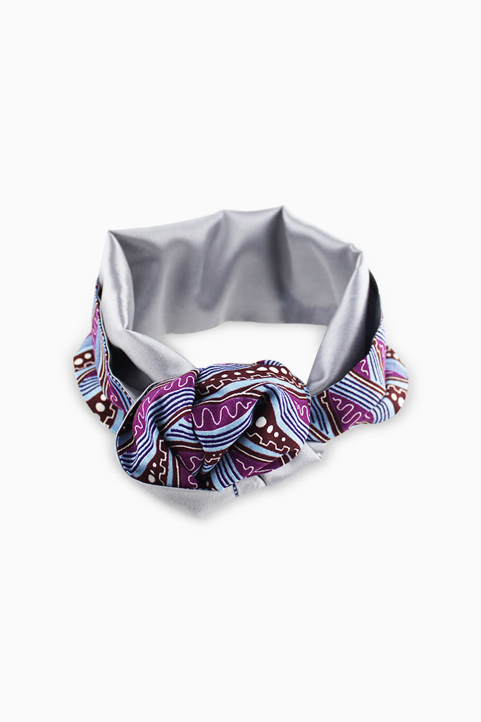 African Print Satin-lined Headband