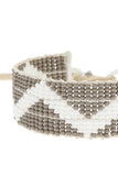 ZigZag Warrior Bracelet in White & Grey