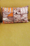 Burnt Orange Tribal Print Inspired Cushion