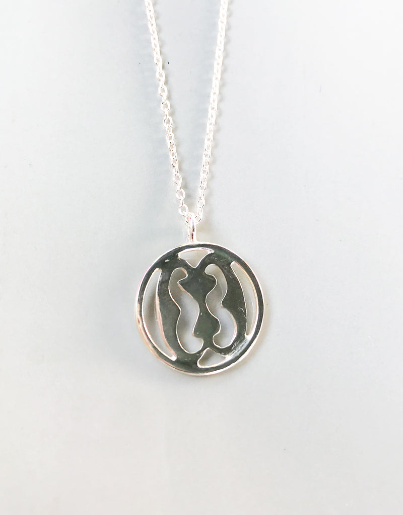 Hand-made Adinkra Sterling Silver Pendant - Family