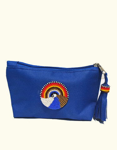 Maasai Hand-Beaded Makeup Bag