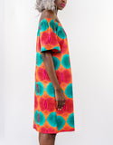 Tropical Tangerine Off Shoulder Dress