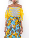 Sapelle African Print Off Shoulder Top