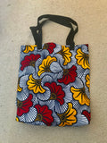 'Flowers' African Print Tote Bag