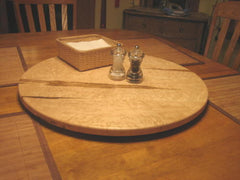 "24"" Bird's Eye Maple Lazy Susan"